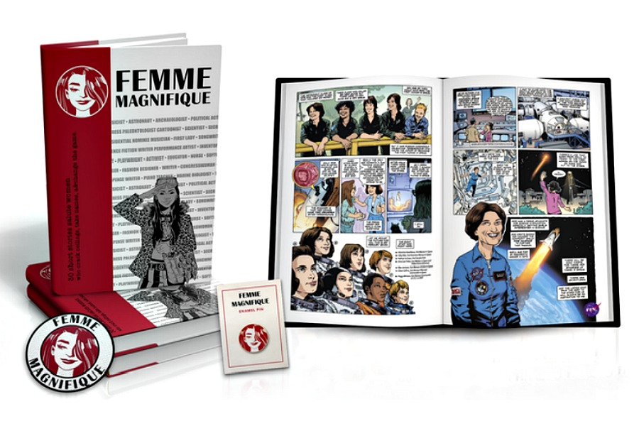 A trés cool graphic novel anthology of inspirational women. Let's hear it for the girls!