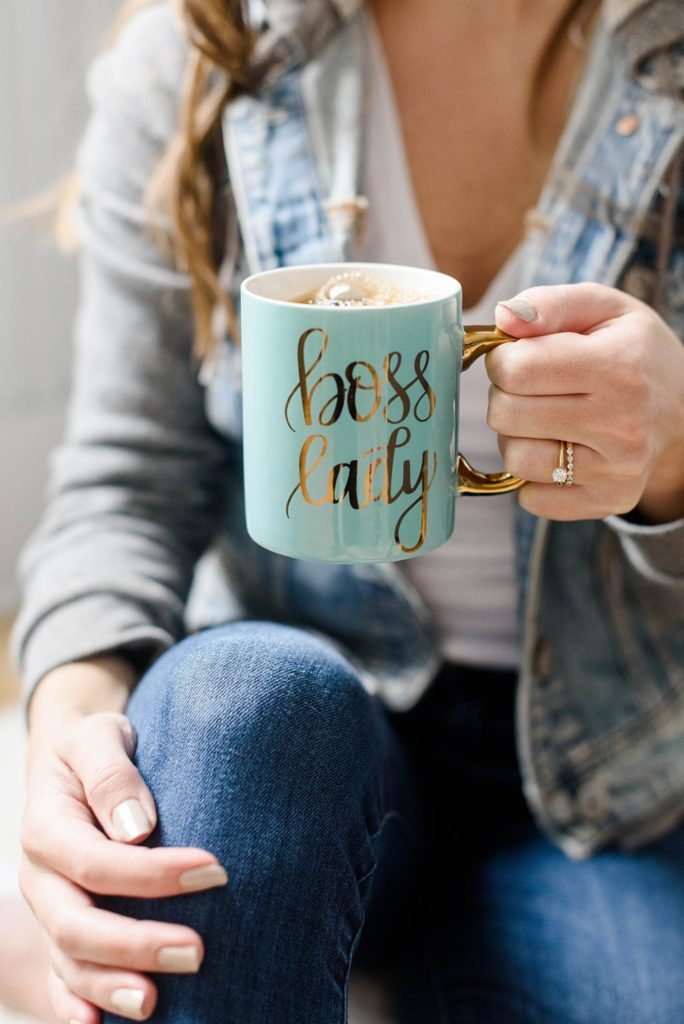 Galentines gifts for your BFF : Bossy Lady mug via Sweetwater Decor