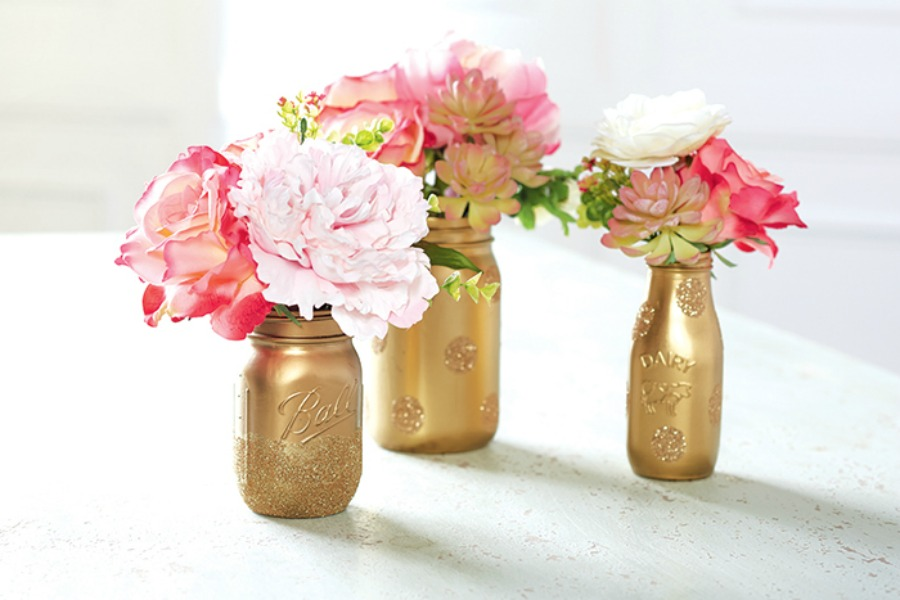 Last Minute Valentine's Day Gifts, like this DIY Mason jar centerpiece from Michael's
