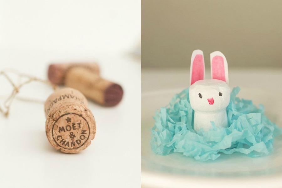 10 fun and easy Easter crafts using everyday, regular old household objects. Yay!
