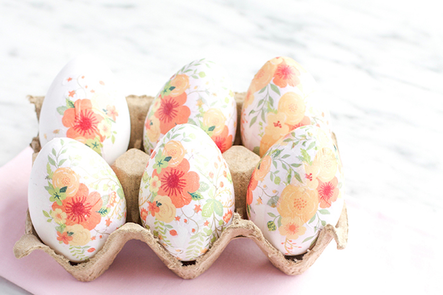 9 of the prettiest floral Easter egg decorating ideas. Lovely!