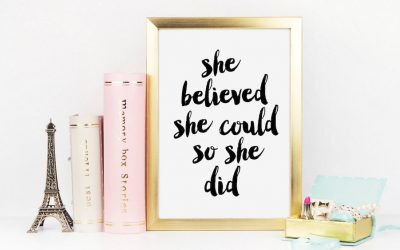 Inspirational quote art for your home office which may be your forever office: 14 amazing quotes to encourage amazing women