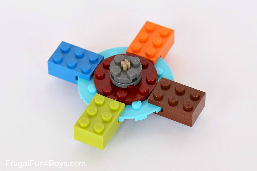 Build your own LEGO fidget spinner, await the gushing praise.