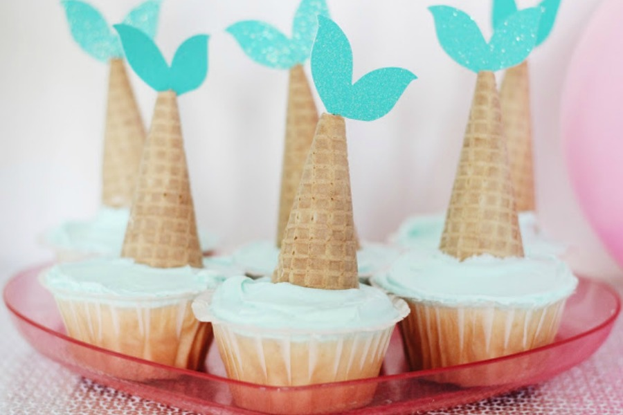 Mermaid party ideas Mermaid Tail Cupcakes by Garvin and Co Cool