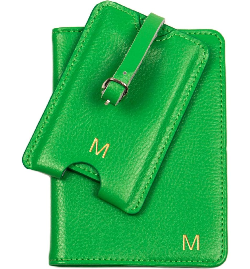 Personalized gifts for dad   MonogramPassport Case and Luggage Tag