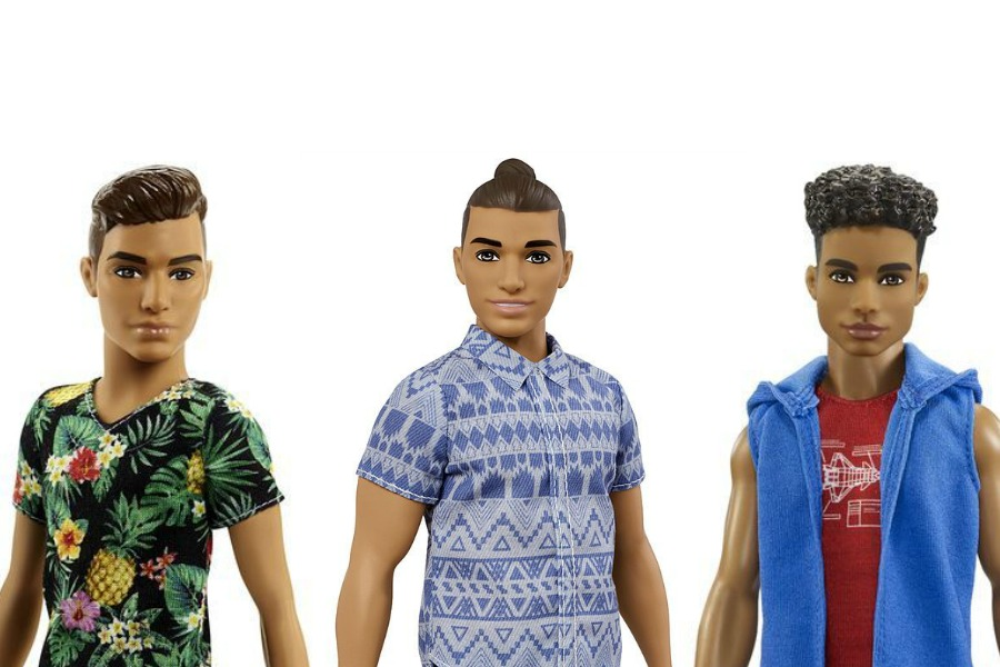 The new Ken dolls are here, some with big muscles in case you're thinking of mocking their man buns.