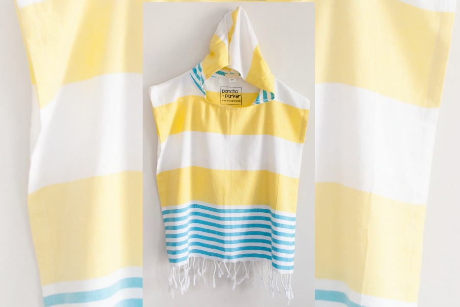The sweet kids beach poncho that multitasks in a big way