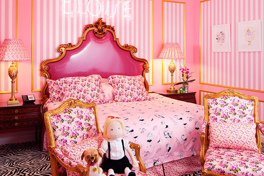 Hotels with the coolest amenities for kids: Eloise suite at The Plaza NY