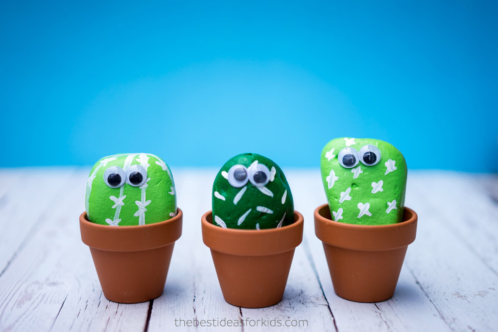 Cactus crafts for kids: Pet Cactus Rocks | The Best Ideas for Kids