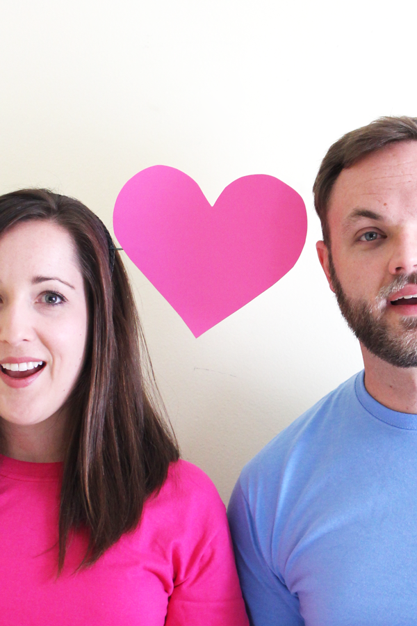 DIY Emoji Photo Booth Props ideas: how to make a Boy Girl Heart Headband via The Flair Exchange