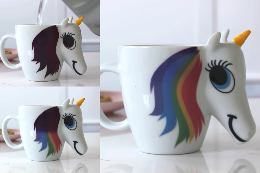 Behold! The magical color-changing rainbow unicorn mug that we need now.