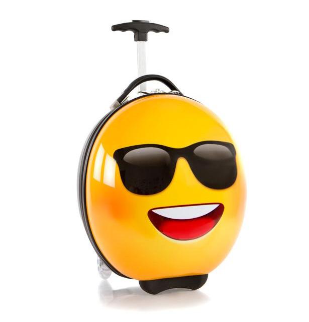 Cool kids' luggage: Sunglasses Emoji by E-Motion via Heys America