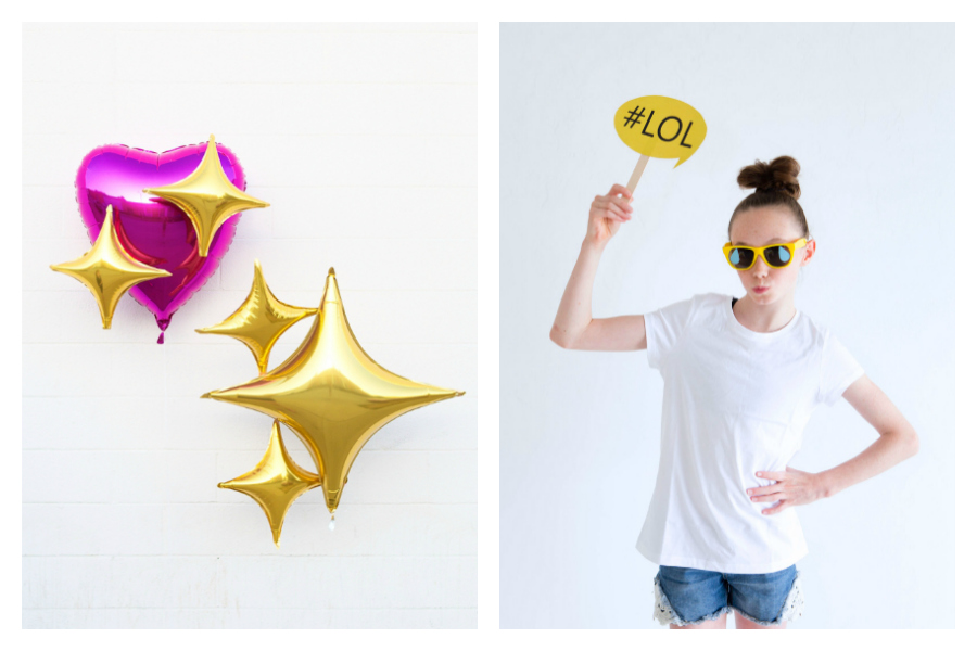 9 OMG emoji photo booth props you can totally make yourself.