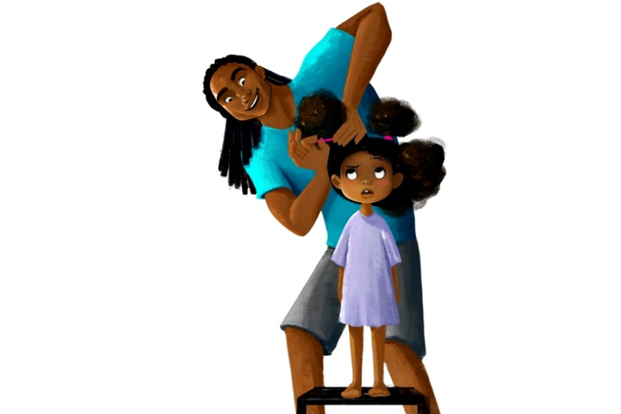 An animated film celebrating Black dads, daughters, and a whole lot of hair love.