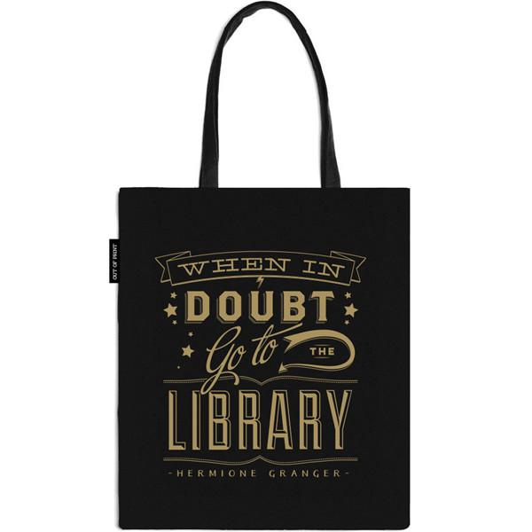 Totes for book nerds: When in Doubt Tote | The Literary Gift Company