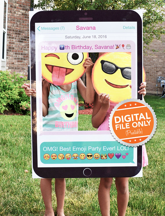 Emoji party photobooth props: Customizable Mobile Phone Prop | Imajenit