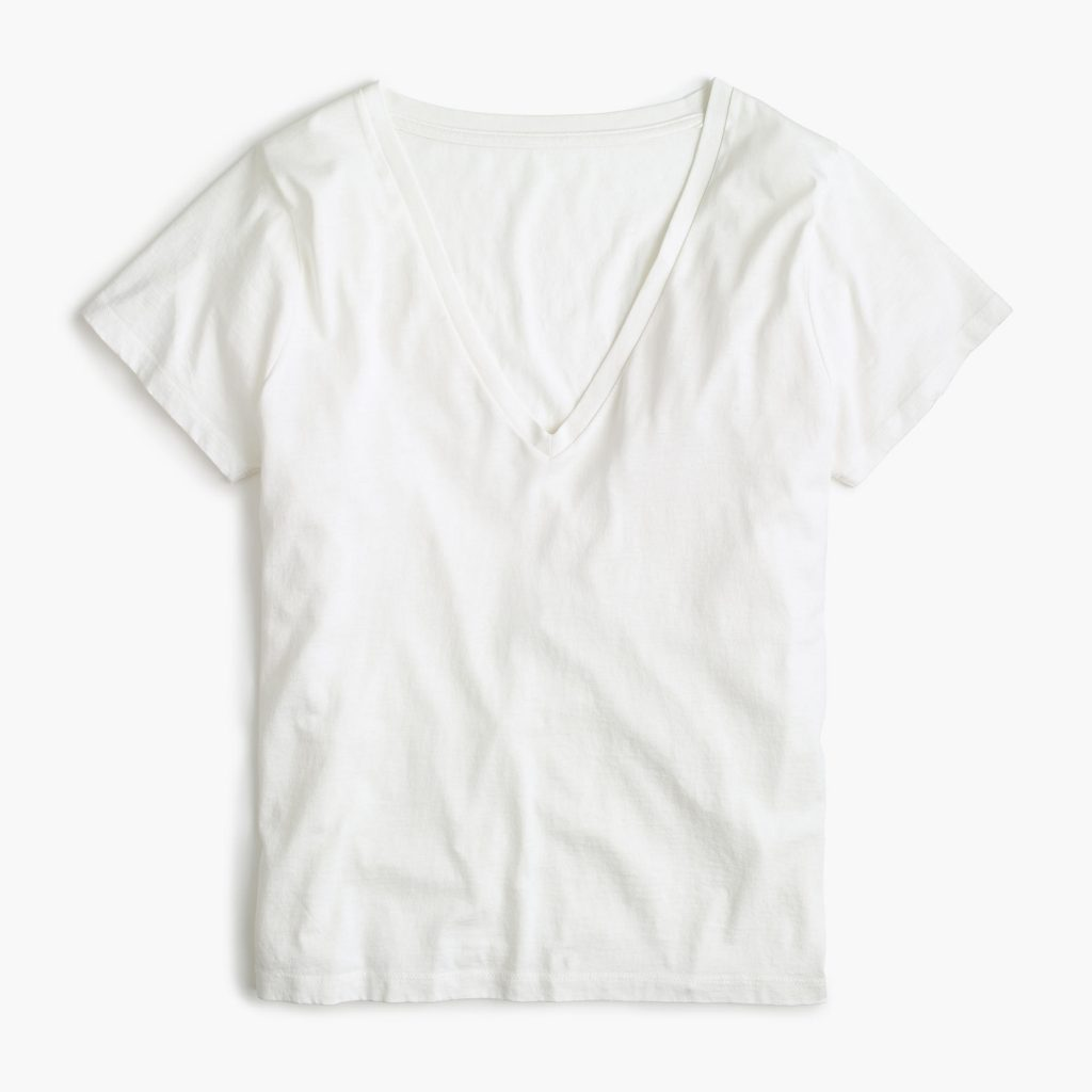 Best white t-shirts for women: J Crew tee in supima cotton | coolmompicks.com