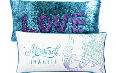 A mermaid pillow so mesmerizing, your kids just might choose it over an iPad.