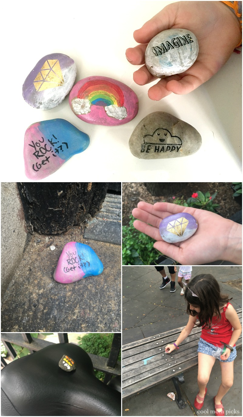 How to turn painted rocks into random acts of kindness for kids | coolmompicks.com