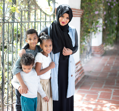 The Tiyya Foundation has a great backpack drive now that makes it easy to provide new school supplies to refugee children facing their first day of US school
