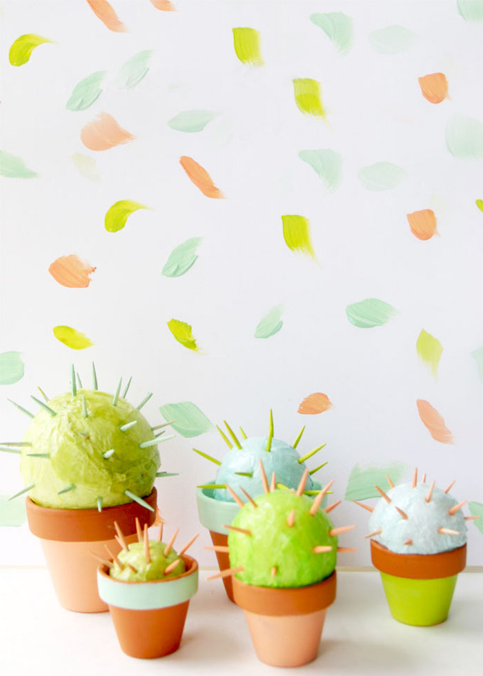Cactus crafts for kids: Toothpick Cacti DIY via Mod Podge Rocks Blog
