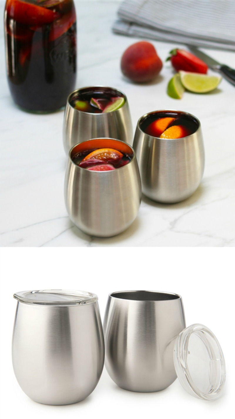 U-Konserve insulated stainless wine glasses are amazing for picnics and al fresco sipping | coolmompicks.com