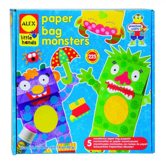 Birthday gift ideas for preschoolers under $15: ALEX Toys Little Hands Paper Bag Monsters