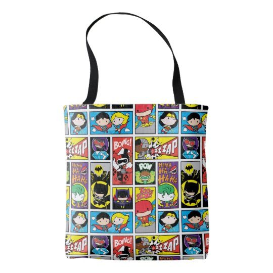 Chibi Justice League Tote  | Cool Wonder Woman Gear | Cool Mom Picks Back to School Shopping Guide 2017