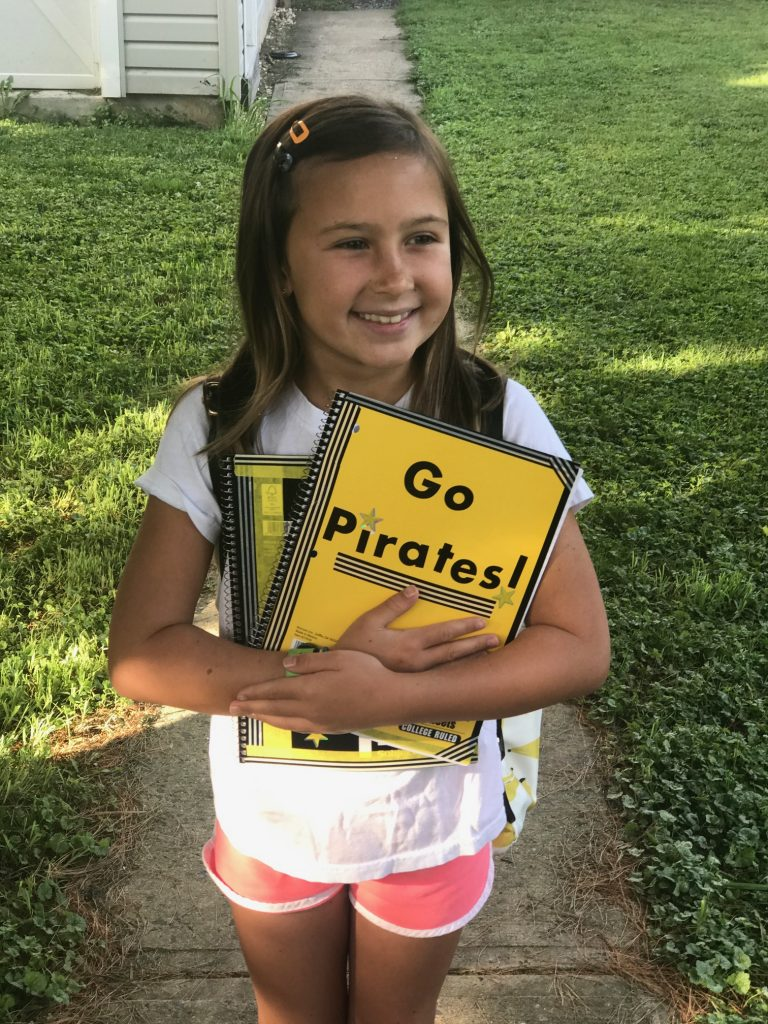 8 subtle ways your kids can show their team spirit: Decorate notebooks with washi tape and stickers