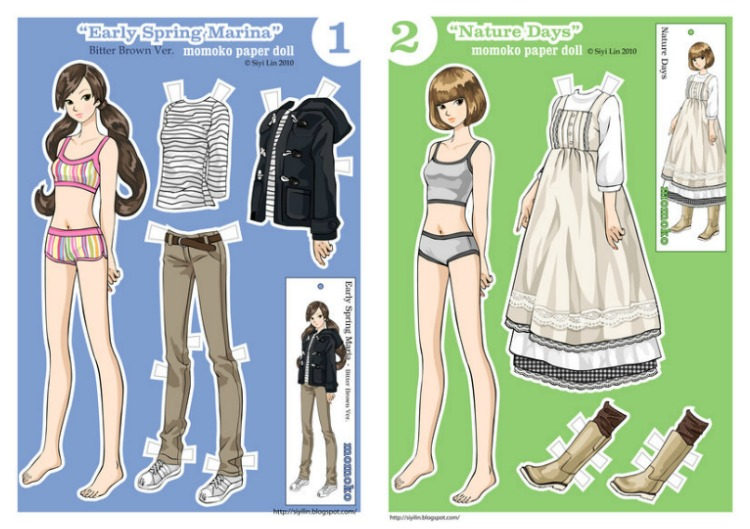image about Paper Dolls Printable called 7 no cost, printable, ground breaking paper dolls versus Question Lady towards