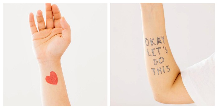 Help for kids anxious about going back to school: Temporary tattoos by Tattly