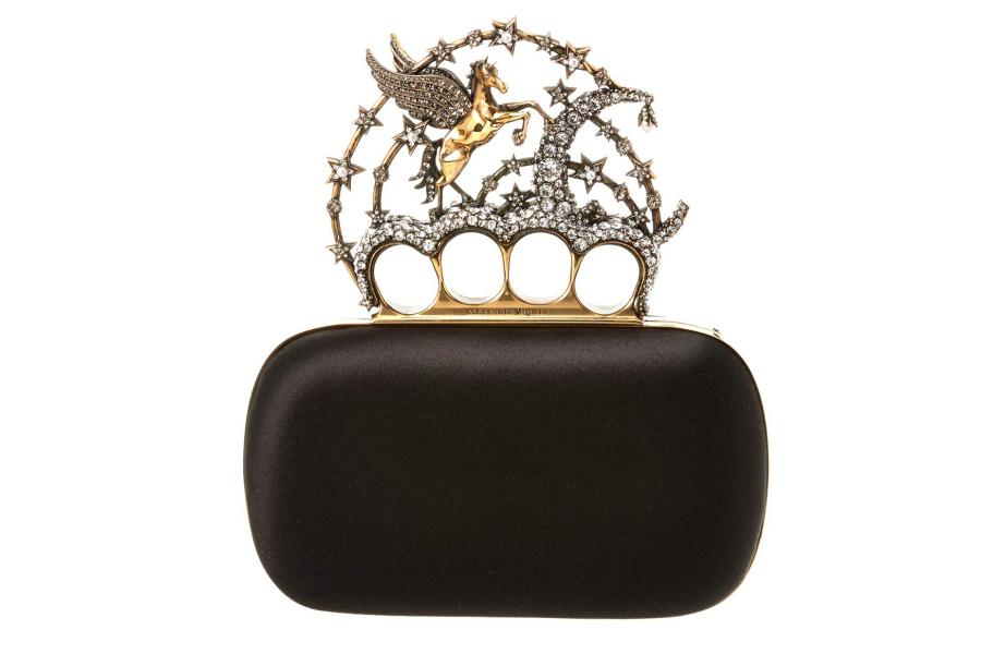 The ultimate luxury designer unicorn purse from Alexander McQueen. Whoa.
