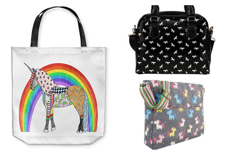 Practical unicorn handbags, totes and messengers