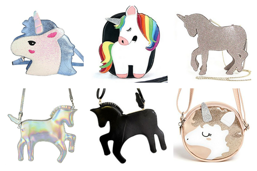 6 of the coolest, cutest unicorn purses for little girls. Though we would wear them too!