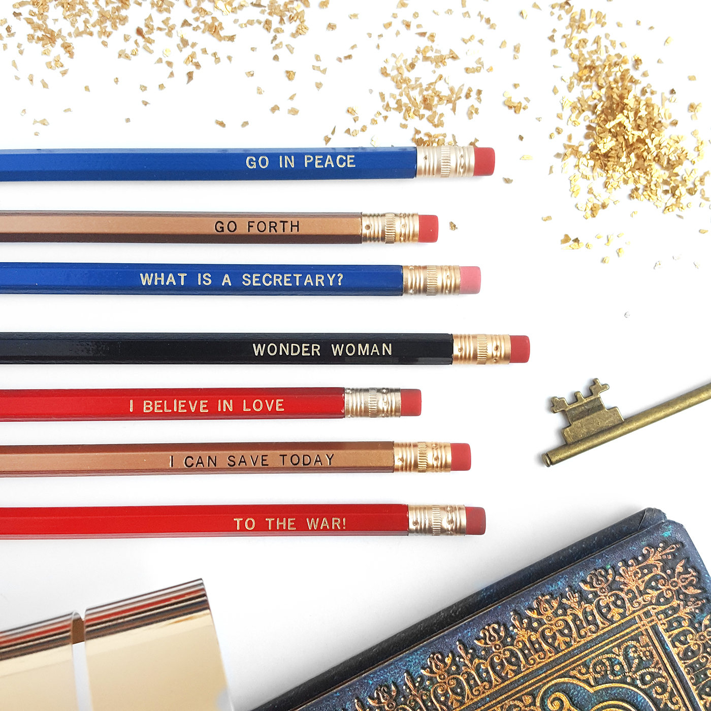 Wonder Woman Pencil Set by Icey Designs on Etsy | Cool Wonder Woman Gear | Back to School Shopping Guide 2017