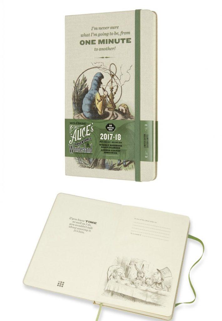 Pretty 2017-18 school year planners: Alice in Wonderland limited Moleskine planner