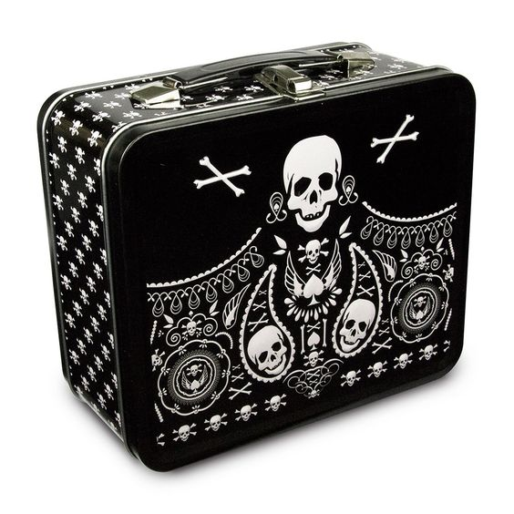Skull Lunch Box | Cool Skull School Supplies | back to school shopping 2017