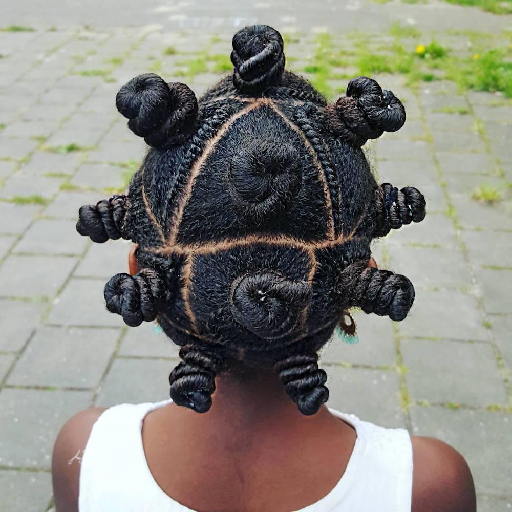 Hair braiding tutorials: Adorable Bantu knots by Shanilla26