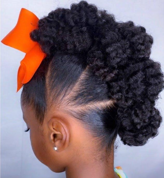 Hair braid tutorials: Textured Bunhawk at IAMAWOG