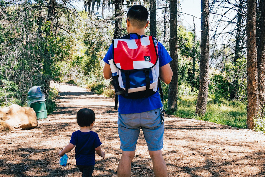 An edgy diaper bag alternative for dads not down with the diaper bag thing.