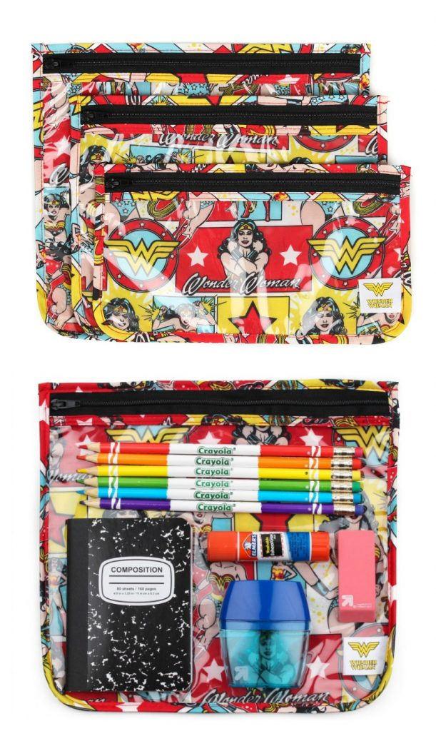 Bumkins wonder woman pencil case set for back to school  | Cool Mom Picks Back to School Shopping Guide 2017