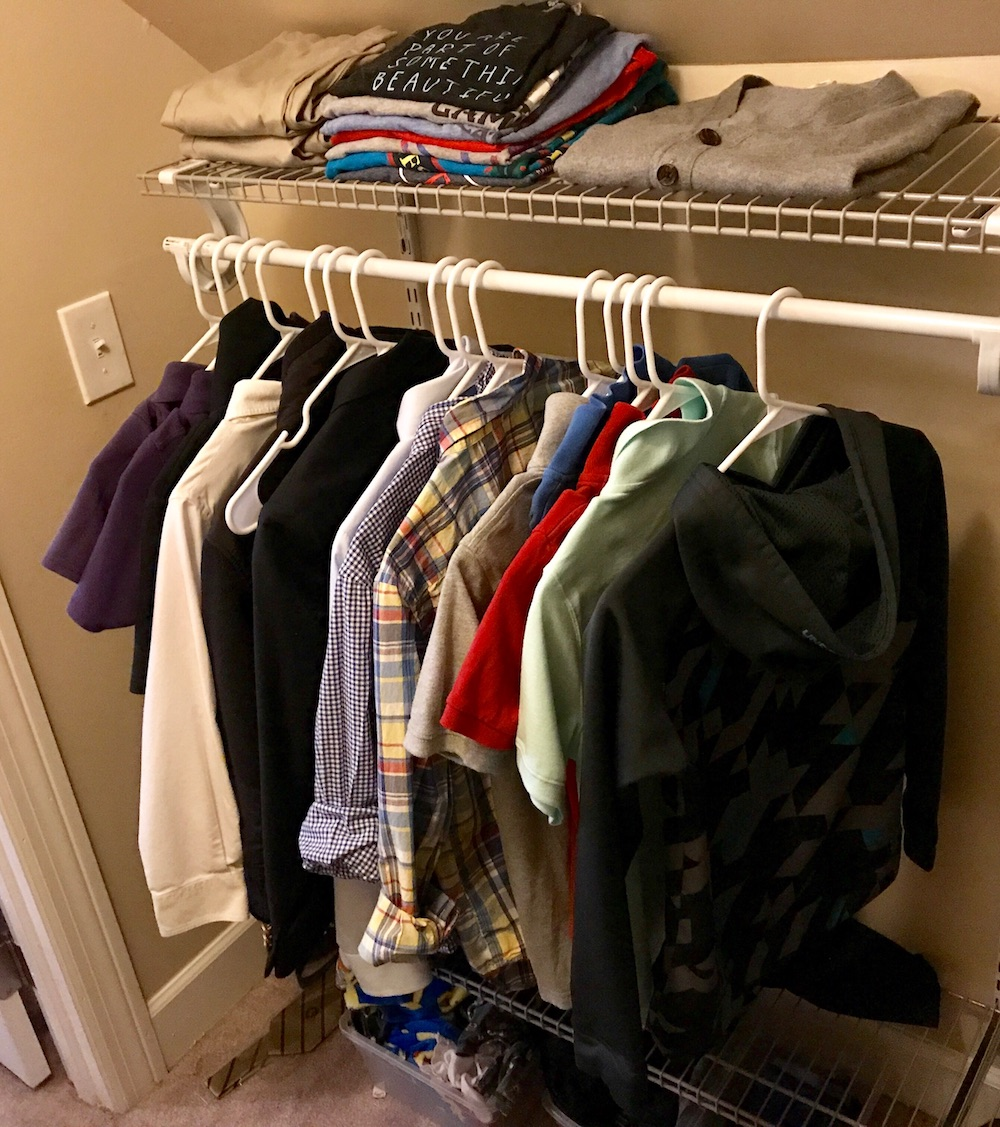 How to make a capsule wardrobe for kids: The streamlined closet, after the purge.