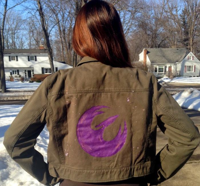 DIY customized denim jackets: Star Wars Rebels Jacket by Geek with Curves
