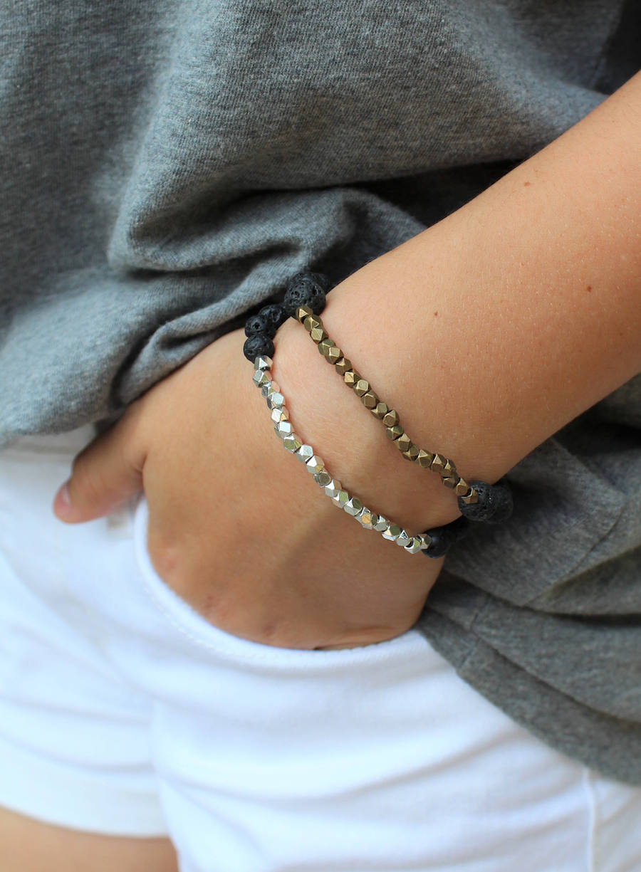 Essential oil jewelry: Lava bracelets at Finding Grace Designs