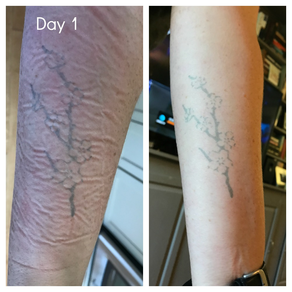 Inkbox tattoos: Directly after application, and a few hours later.