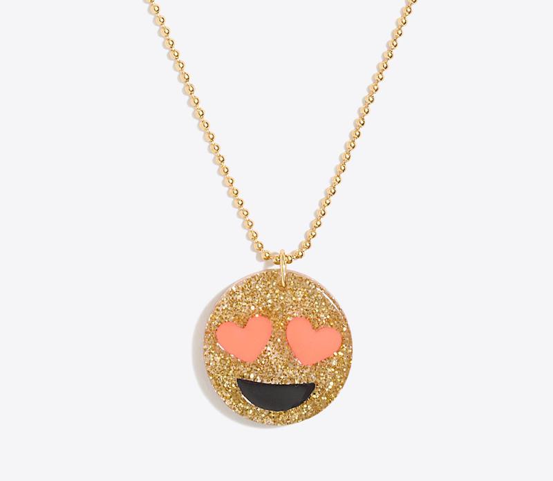 J.Crew Factory sale: Emoji Pendant Necklace