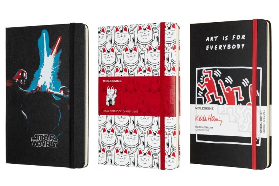 Moleskine, meet Minions. And Vader. And Potter. And Haring. And Jagger…