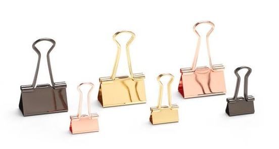 Metallic Binder Clip Set | Cool metallic school supplies | back to school shopping 2017