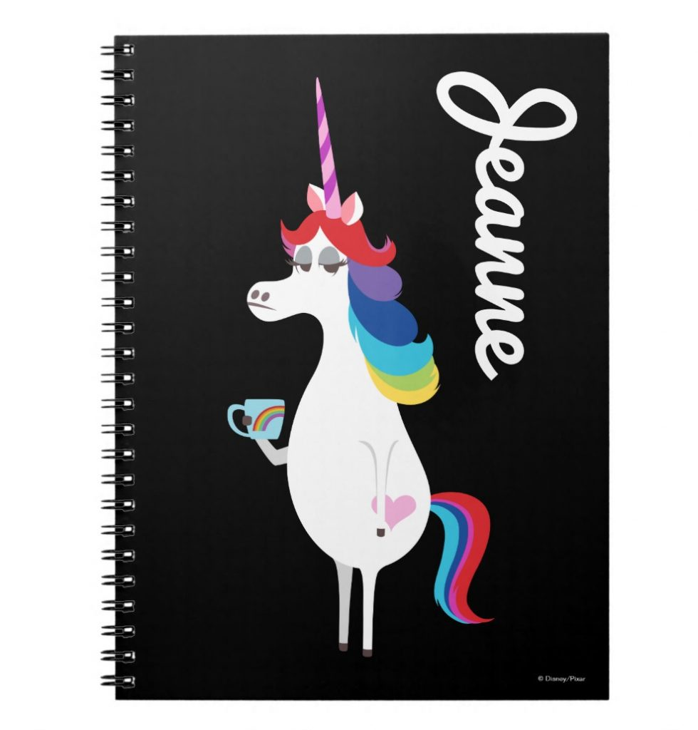 Pixar Inside Out mixed emotions personalized unicorn journal | cool mom picks back to school shopping 2017