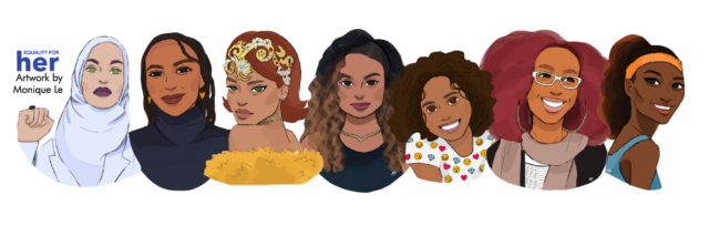Modern HERstory portrays 50 diverse women doing incredible things TODAY! | by Equality for HER and illustrated by Monique Le | coolmompicks.com